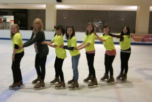 Jr Lakers Dance Team: ice-skate outing and lloyd center promotional video film day
